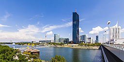 Austria, Vienna, Donau City with Donauturm and DC Tower 1 - WDF03960
