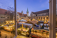 Germany, Braunschweig, Christmas market in the evening - PVC01053
