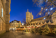 Germany, Braunschweig, Christmas market in the evening - PVCF01056
