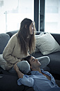Young couple relaxing at home - SIPF01565