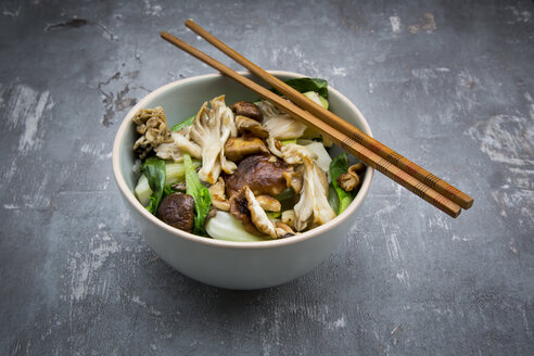 Stir-fry with Chinese cabbage, maitake, oyster and shitake mushrooms - LVF06001