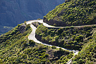 Spain, Canary islands, Tenerife, Teno mountains, mountain road near Masca - SIEF07397