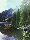 Italy, South Tyrol, Dolomites, Pragser Wildsee - GWF05171