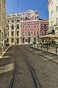 Portugal, Lisbon, street with tramway - THAF01931