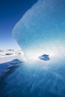 Iceland, Light and blue in a glacier - RAEF01823