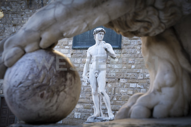 Italy, Florence, David statue - LOM00553