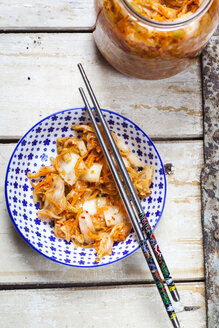 Homemade Korean Kimchi with chinese cabbage, scallions and carrots - SBDF03178