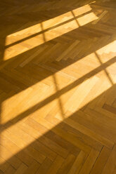 Shadow and light on herringbone parquet flooring - FCF01164