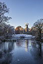 Germany, Bremen, Am Wall Windmill in winter - PVCF01075