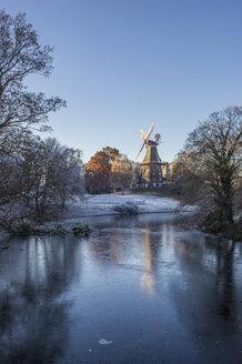 Germany, Bremen, Am Wall Windmill in winter - PVCF01075