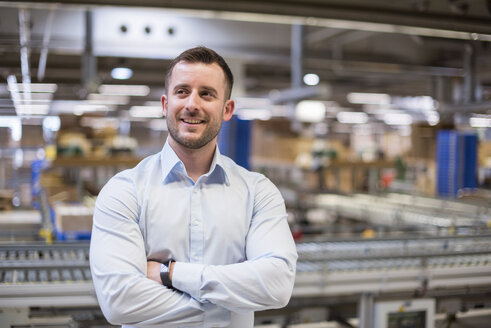 Portrait of confident man in factory - DIGF01769