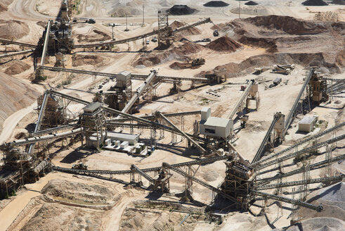 USA, Texas, aerial view of sand mine near San Antonio - BCDF00268