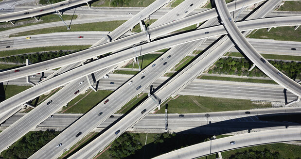 USA, Texas, San Antonio, aerial view of highway interchange - BCDF00271