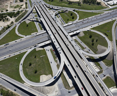 USA, Texas, San Antonio, aerial view of highway interchange - BCDF00274