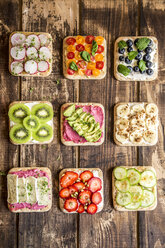 Various garnished sandwiches - SARF03301