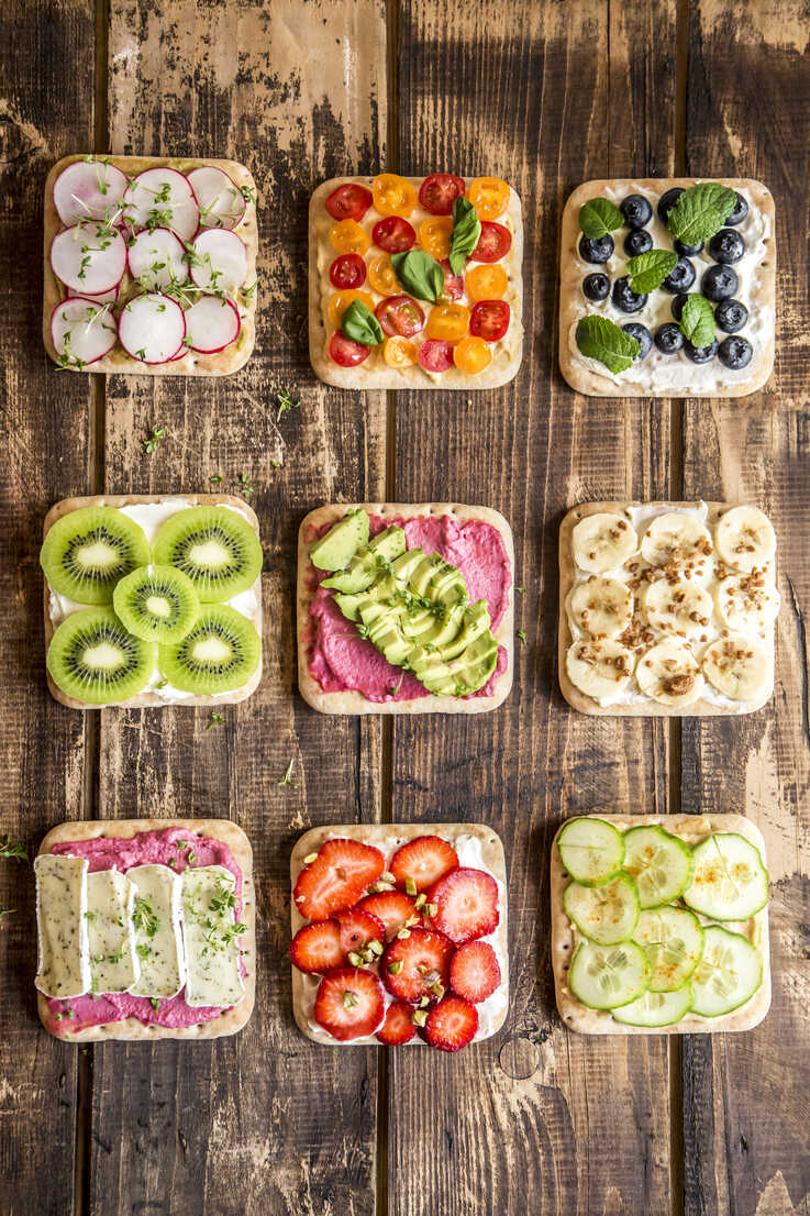 Various garnished sandwiches - SARF03301 - Sandra Roesch/Westend61