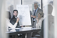 Businessman leading a presentation in city office - ZEF13632