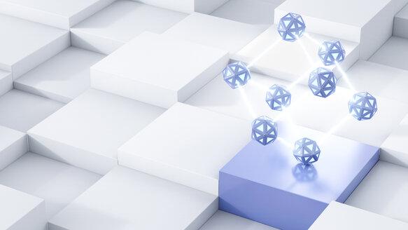 Energy cubes, 3d rendering - AHUF00347
