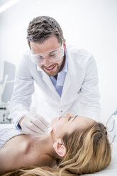 Aesthetic surgery, woman receiving treatment - WESTF22976