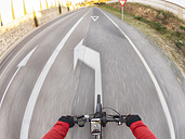 Personal perspective of cyclist on a street - LAF01825