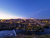 Spain, Toledo, cityscape at blue hour - LAF01828