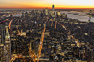 USA, New York City, cityscape at dusk - DAWF00543