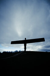 UK, England, Gateshead, view to sculpture 'Angel of the North' - SMA00733