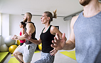 Group of athletes exercising in gym - HAPF01605
