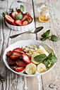 Bowl of porridge with strawberries and banana - EVGF03217