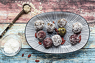 Various Bliss Balls on platter - SARF03333
