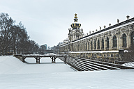 Germany, Dresden, Zwinger palace in winter - ASCF00742