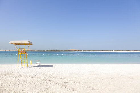 UAE, Abu Dhabi, Corniche, lifeguard tower - MMAF00072