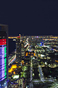 UAE, skyline of Abu Dhabi at night - MMAF00078