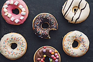 Colorful doughnuts with different icings - IPF00378