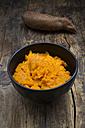 Bowl of homemade sweet potato mash - LVF06097