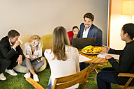 Business people working having a casual meeting in the office - PESF00554