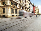 Spain, Sevilla, driving tram at the city - LAF01848