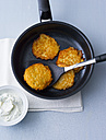 Potato fritters in frying pan - PPXF00037