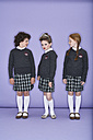 Three girls wearing school uniform - FSF00882