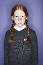 Portrait of redheaded girl with freckles - FSF00894