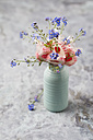 Forget-me-not and heart-shaped lollipops in a vase - MYF01917