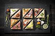 Various garnished sandwiches - MAEF12212