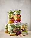 Preserving jars with various salads - KSWF01817