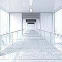 Empty passageway in a modern office building, 3D Rendering - UWF01178