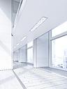 Empty lobby in a modern office building, 3D Rendering - UWF01181