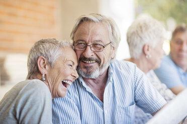 Portrait of senior couple having fun - ZEF13819