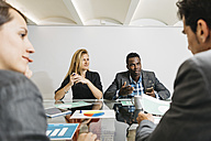 Creative business people having a meeting in office - JRFF01372