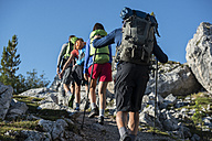 Italy, Friends trekking in the Dolomtes - ZOCF00460