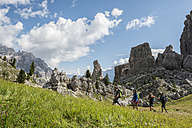 Italy, Friends trekking in the Dolomtes - ZOCF00478