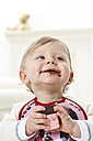 Portrait of toddler with chocolate on his face - FSF00936